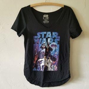 SALE! Star Wars Black Graphic V-neck T-shirt